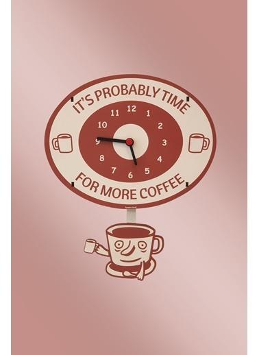 Peoples Clock Kahve Zamanı Sallanan Sarkaçlı Çocuk Odası Duvar Saati Renkli